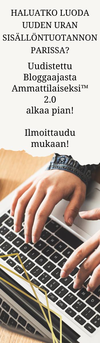 Bloggaajasta ammattilaiseksi kurssi alkaa pian!
