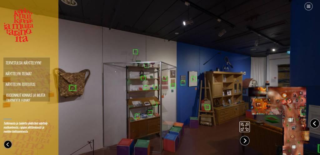 Kadonnut kinnas ja muita tarinoita- virtuaalinäyttely