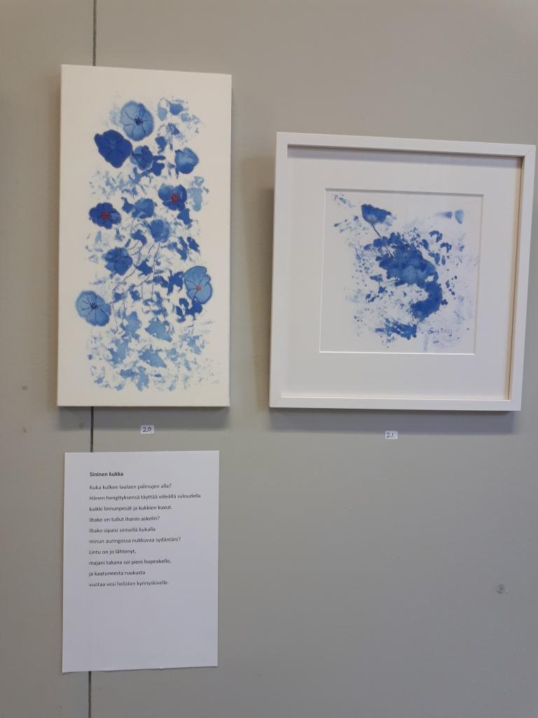 Sininen kukka, tekstiilityö